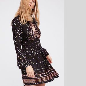 Free People New printed dress NWT